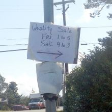"""Is the """"Quality Sign"""" advertised on this sign indeed a quality sale"""